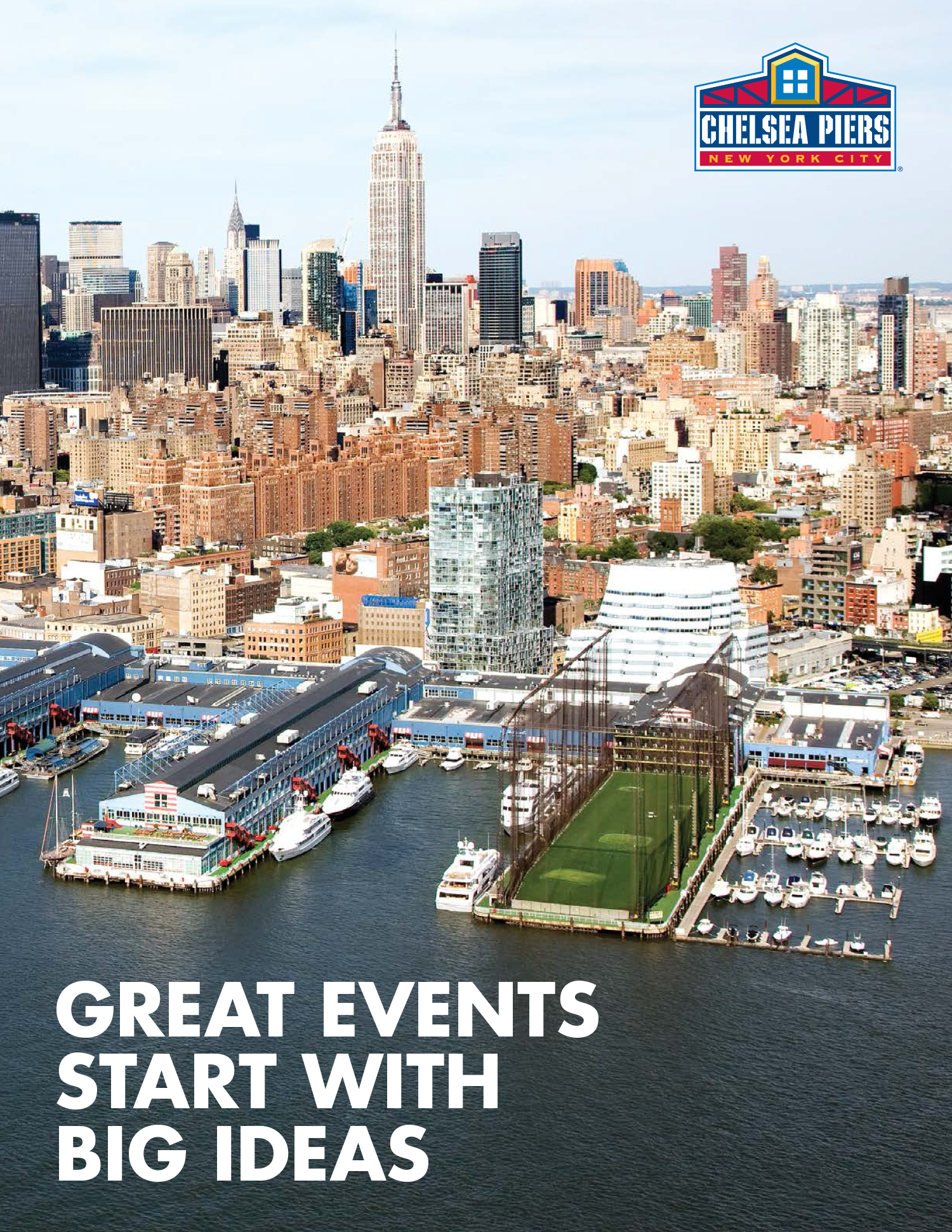 Big event ideas start here chelsea piers chelsea piers for Events going on in new york city