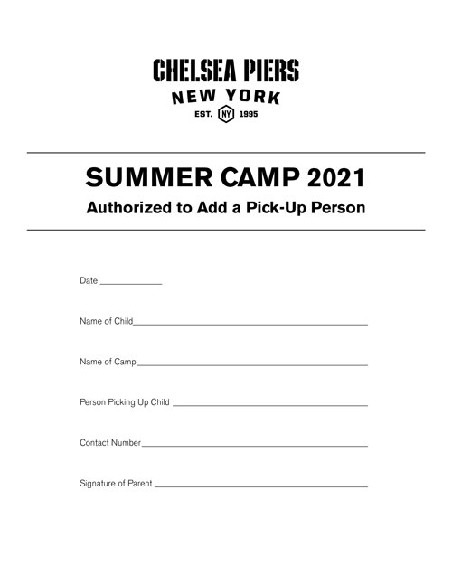 Camp Application
