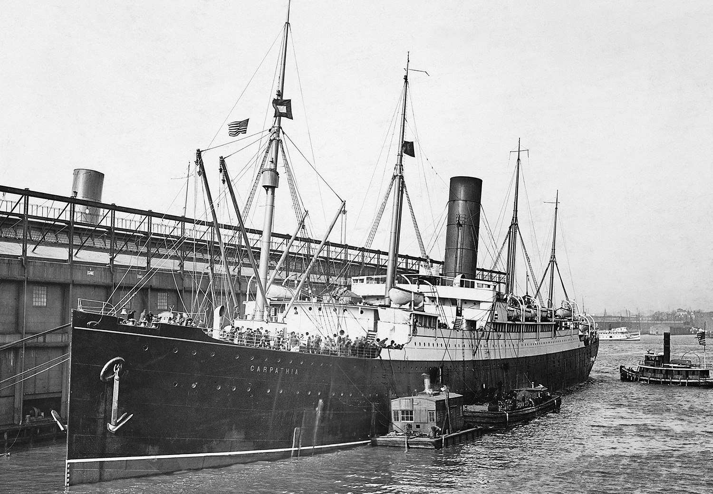 Carpathia with Survivors of Titanic