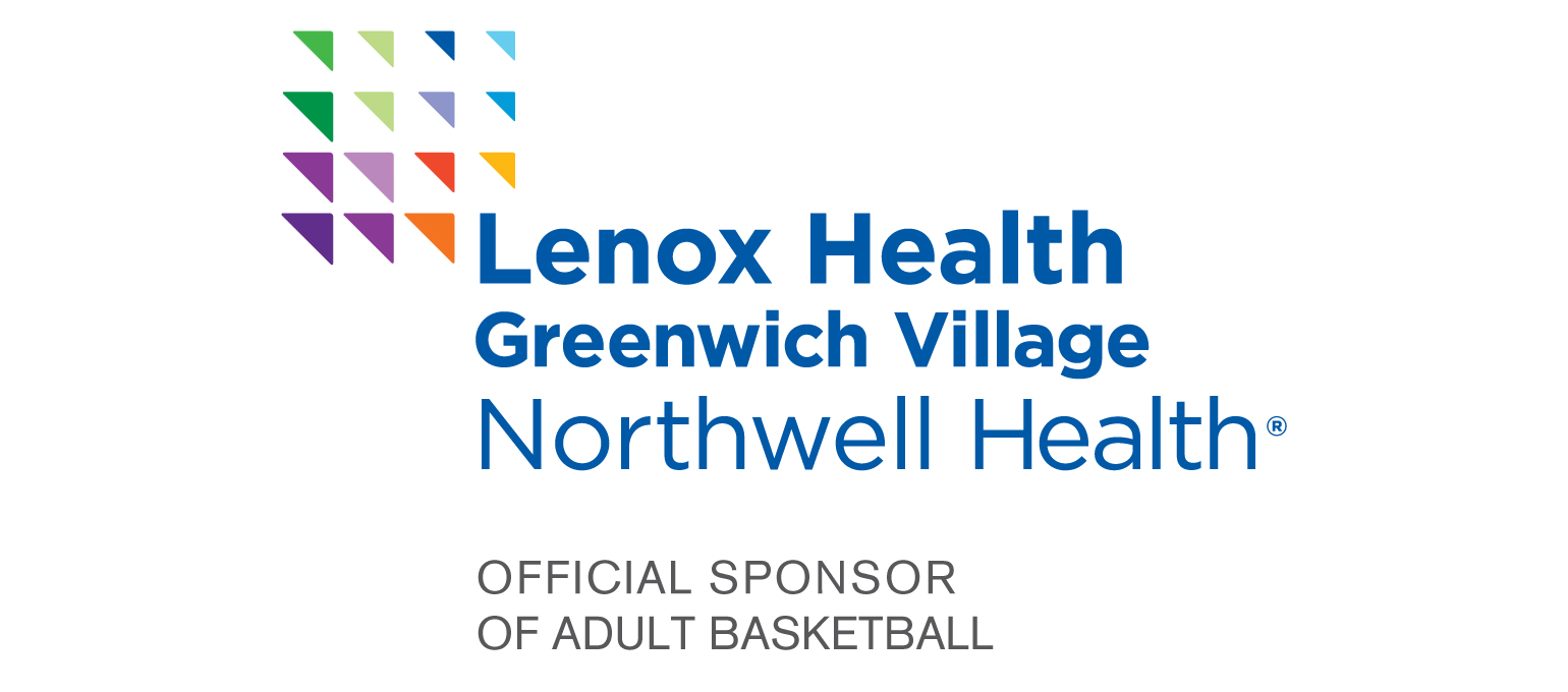 Lenox Health Greenwich Village Northwell Health Logo. Official Sponsor of Adult Basketball.