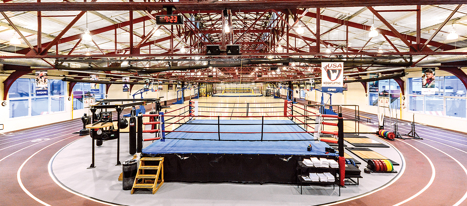 Indoor Running Track and Boxing