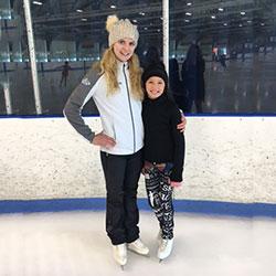Jessica with student, Evangeline.